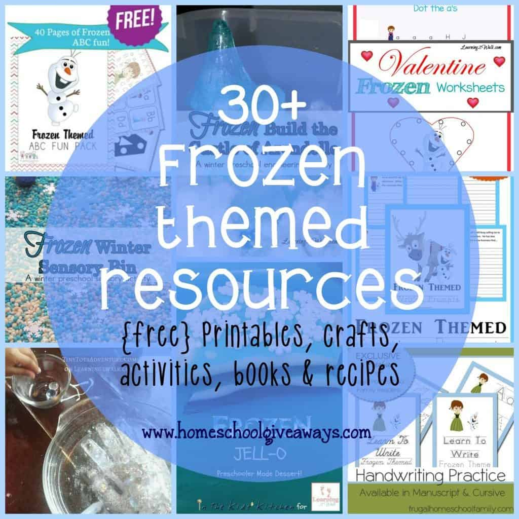 Frozen Themed Printables Crafts Activities Recipes