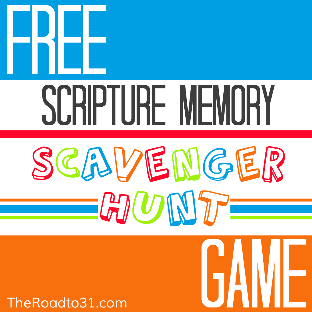 Free Scripture Memory Scavenger Hunt Game