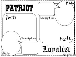 FREE Revolutionary War Graphic Organizer  Homeschool