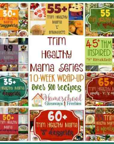 Don't know where to start with the Trim Healthy Mama lifestyle? Find yourself overwhelmed? Check out over 500 recipes to help get you started! :: www.homeschoolgiveaways.com