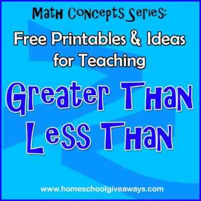 FREE Printables and Ideas for Teaching Greater Than Less Than   Free ...
