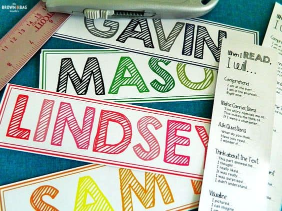 FREE Printable Name Bookmarks - Homeschool Giveaways