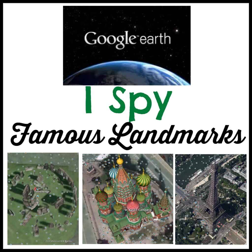 Famous Landmarks Earth I Spy Free Printable Activity