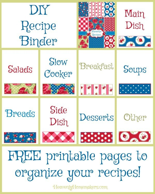photo about Free Printable Recipe Binder named Cost-free Do it yourself Recipe Binder Webpages and Business enterprise Guidelines