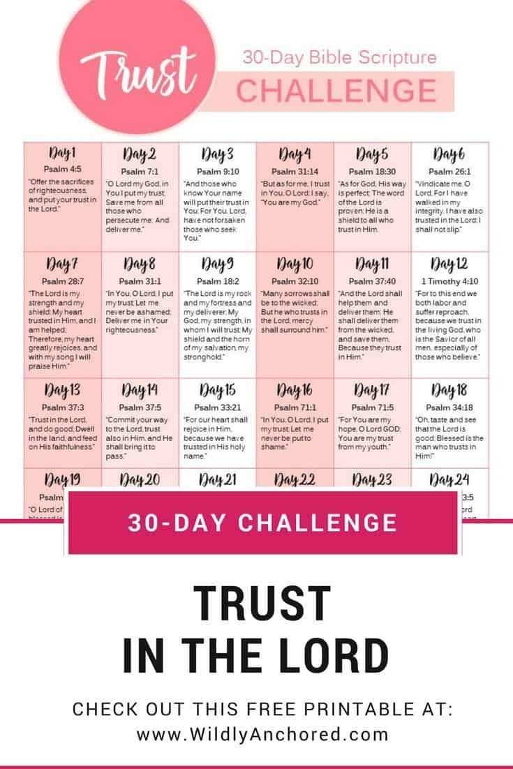 30-Day Trust in the Lord Challenge - Homeschool Giveaways