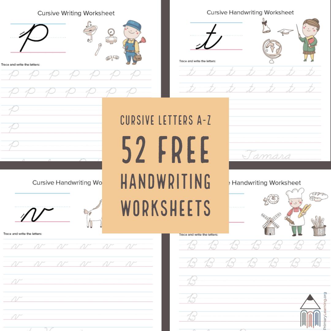 52 Free Cursive Handwriting Worksheets