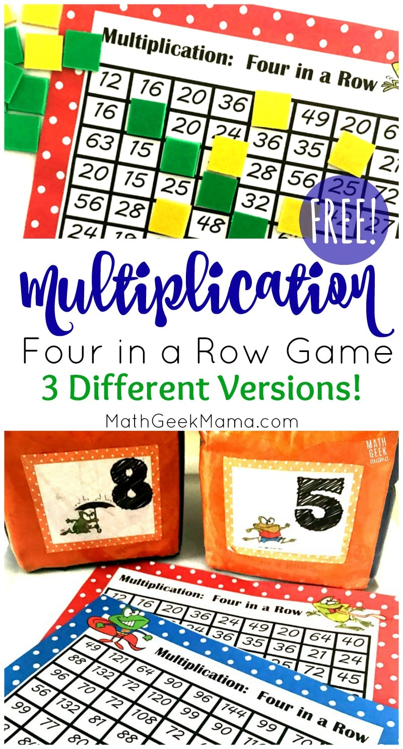 picture about Multiplication Facts Games Printable referred to as Cost-free Printable 4 within just a Row Multiplication Information Recreation