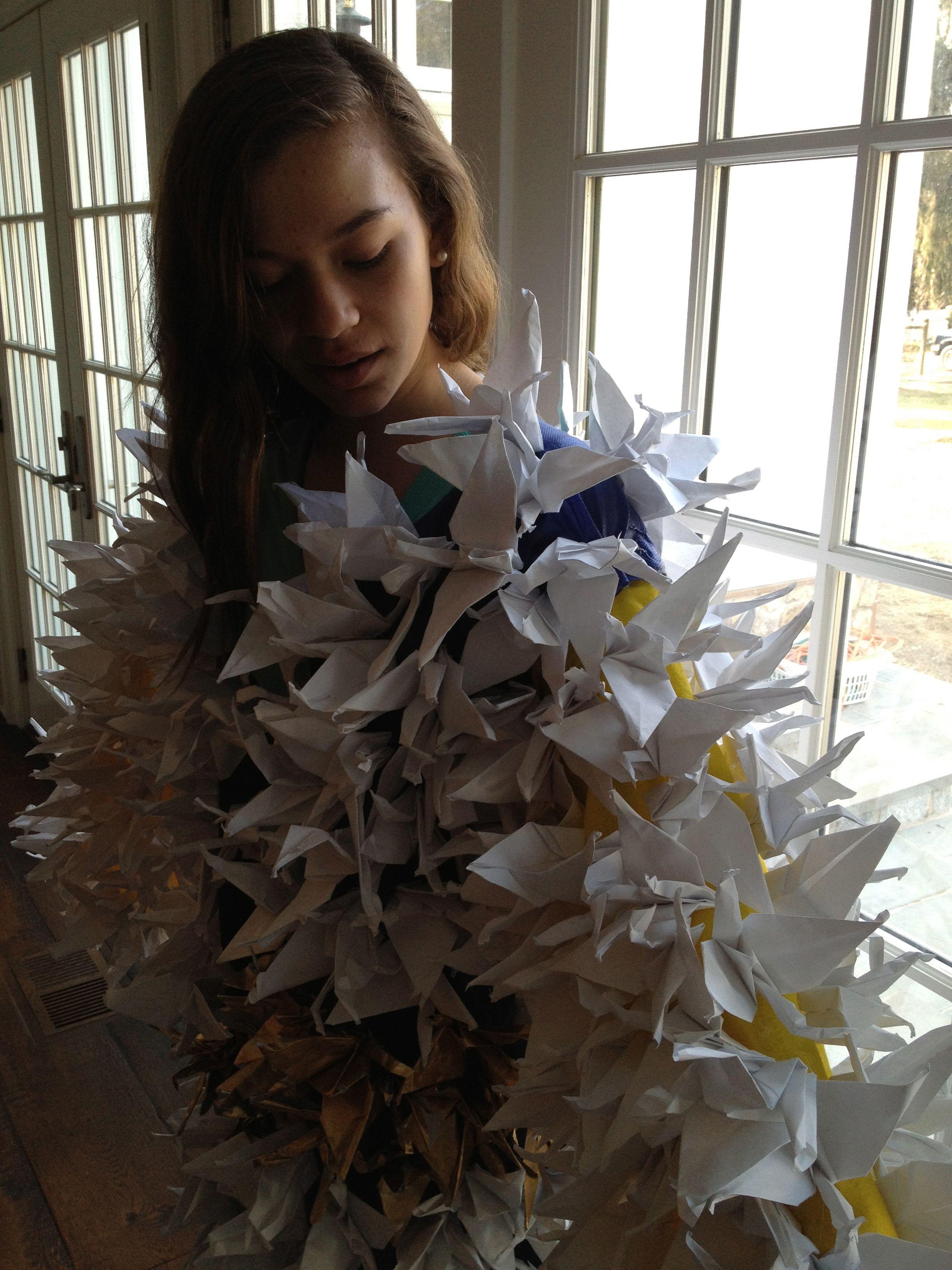 Kimono Of Cranes