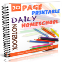 Homeschool Daily Notebook {FREE PRINTABLES!}