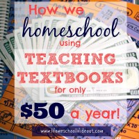 Teaching Textbooks on a Budget