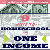 How to Homeschool on One Income