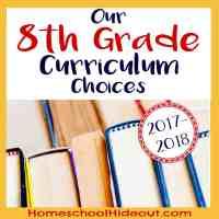 2017-2018 8th Grade Curriculum Choices