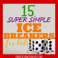 Ice Breakers for Kids with FREE Printables