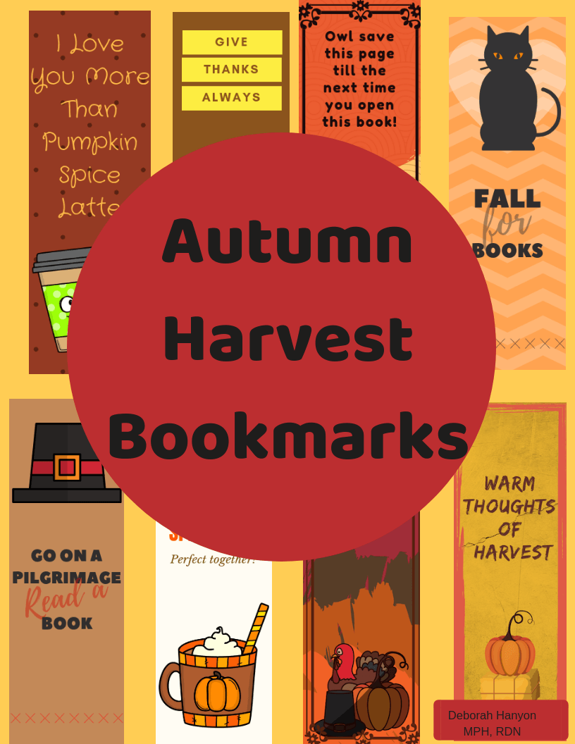 Fall Themed Digital Bookmarks