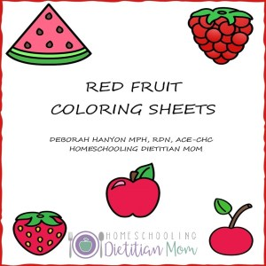Red Fruits Printable Coloring Sheets