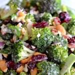 Broccoli, cranberry, bacon salad