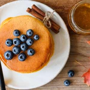 Pumpkin Blueberry Spice Pancakes