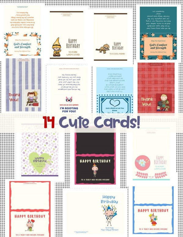 Bundle of Bookmarks and Cute Cards