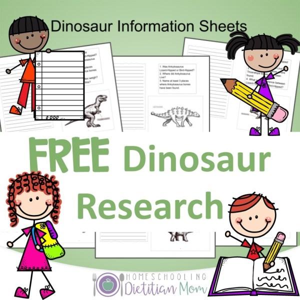 Dinosaur Research Sheets