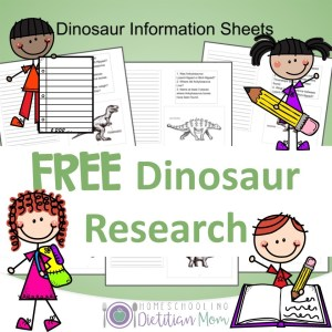 Dinosaur Research Sheets