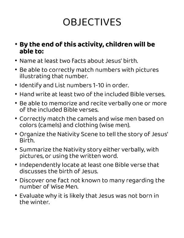Christmas nativity Jesus story