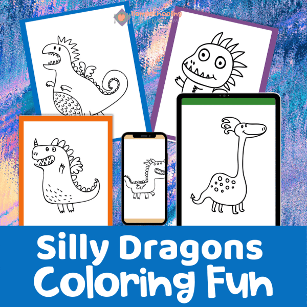 Silly Dragons Coloring Pages