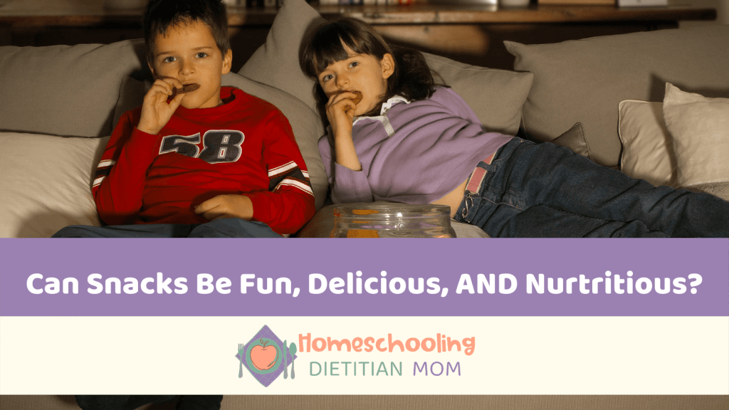 fun, delicious, and nutritious snack kids lying on a couch eating