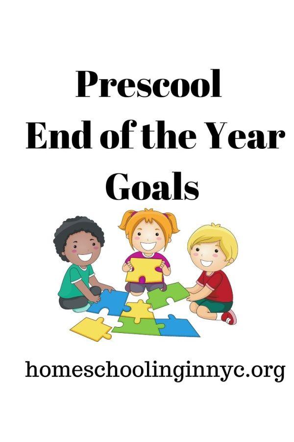 Preschool End of the Year Goals