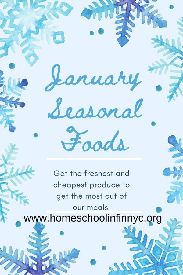 January Seasonal Foods