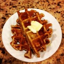 The boys helped make waffles on our new wafflemaker. Nom nom nom