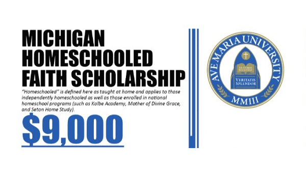 Ave Maria University Scholarship for Michigan Homeschoolers