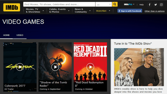 IMDb's Guide to Video Games