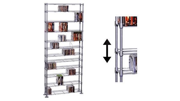 Atlantic MaxSteel 12-Tier Steel Wire Media Rack