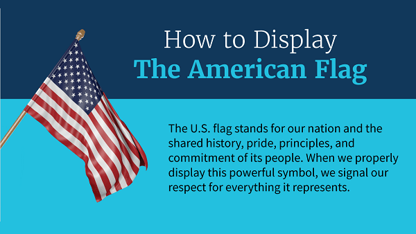 Infographic: How to Display the American Flag