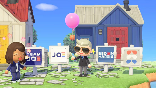 Biden-Harris Campaign Releases Animal Crossing Yard Signs