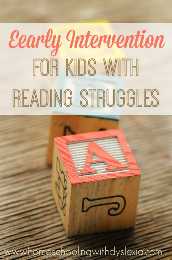Early Intervention for Kids With Reading Struggles