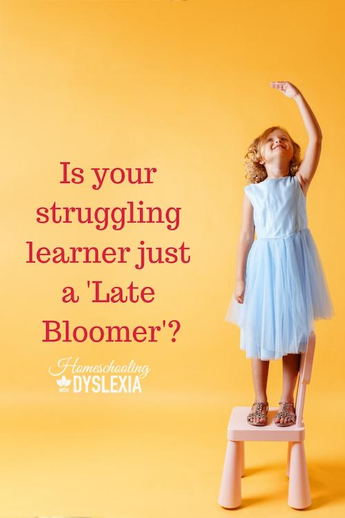 Is your struggling learner a late bloomer?