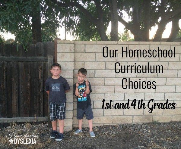 Homeschool Curriculum Choices 1st and 4th Grades