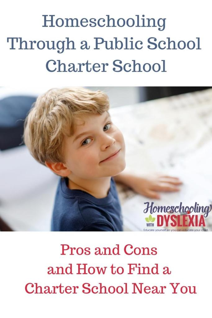 This article shares the pros and cons of homeschooling kids with dyslexia through a public school charter school.