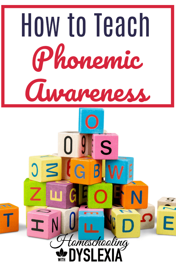 Research has shown that phonemic awareness is the single strongest indicator of a child's success at learning to read. But, how do you teach it? I'm showing you step by step! #phonemicawareness #teachreading #reading #readinghelp #homeschooling #homeschoolteacher #homeschool HomeschoolingwithDyslexia.com