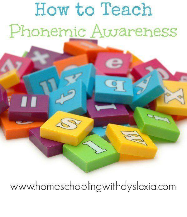 How To Teach Phonemic Awareness Homeschooling With Dyslexia