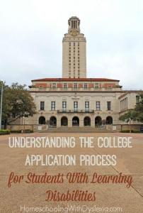 Understanding the College Application Process for Students With Learning Disabilities