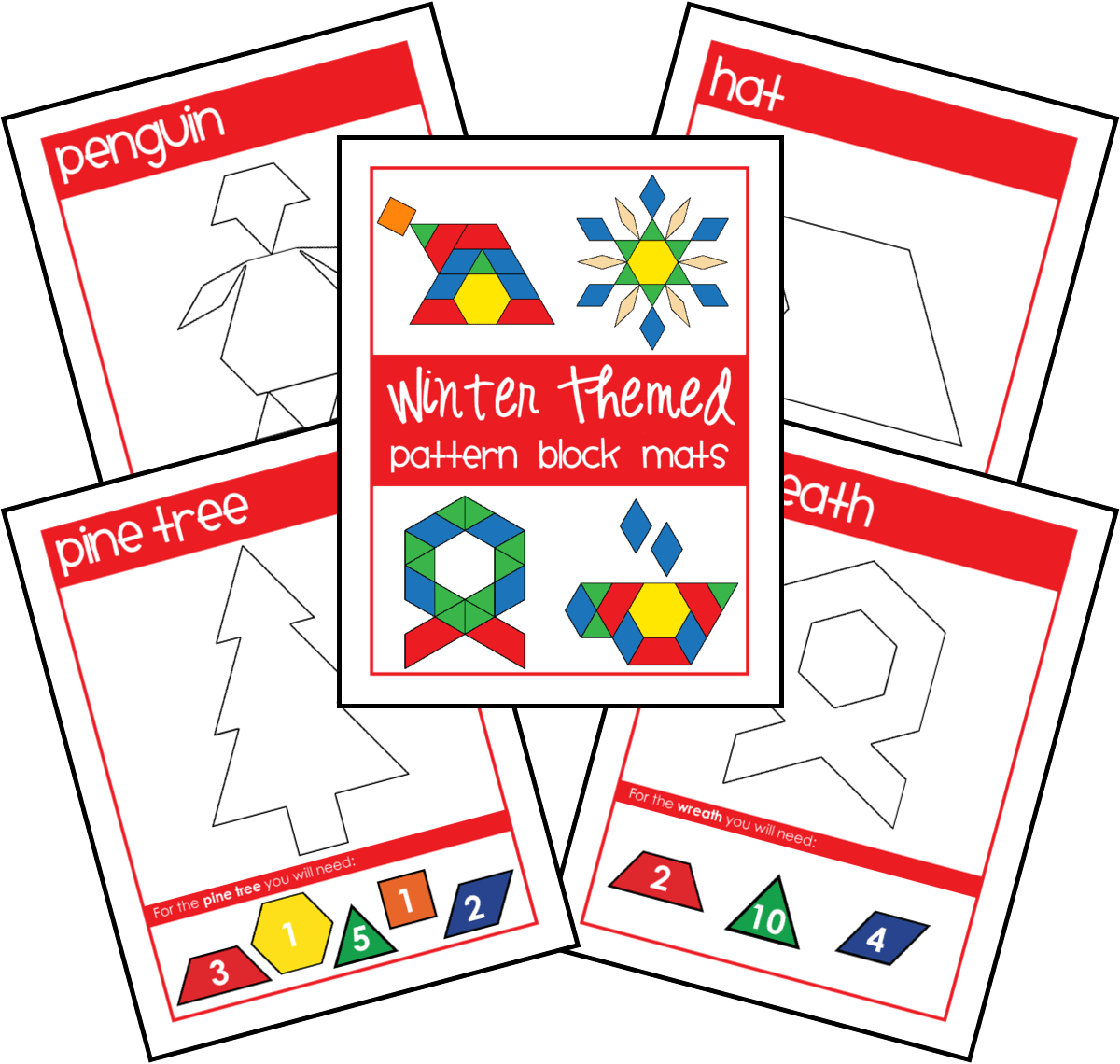 Make Unique Tangram Patterns On Vibrant Printable Block Mats