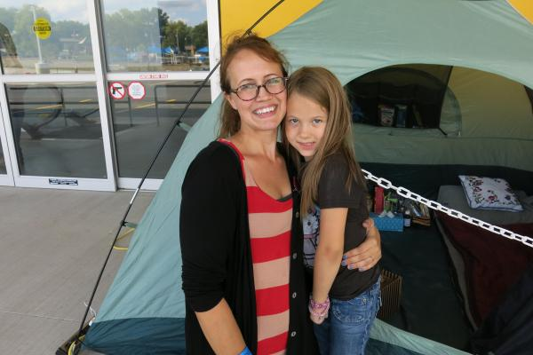 Homeschool Mother and Daughter Wait in Line at IKEA