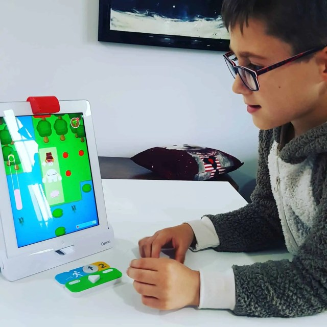 Playing Osmo Coding with Awbie