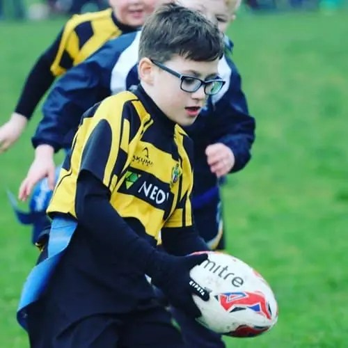 Being part of a team is so important, Freddie just loves playing rugby #rugby