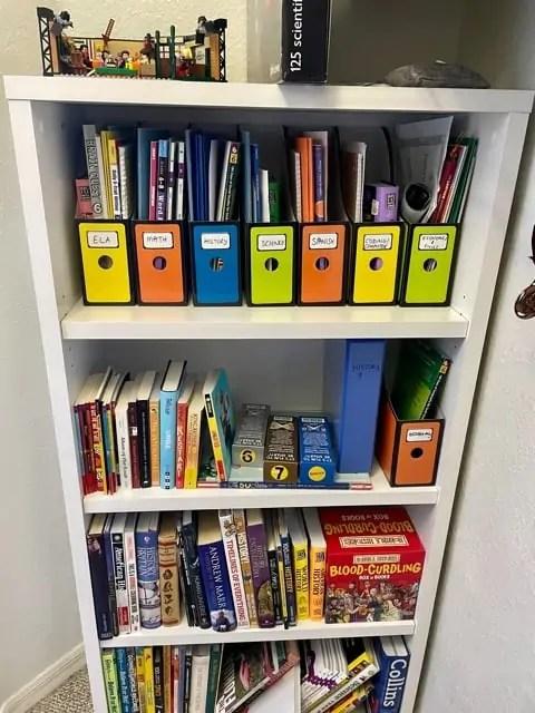 Homeschool Room Ideas - Bookshelf