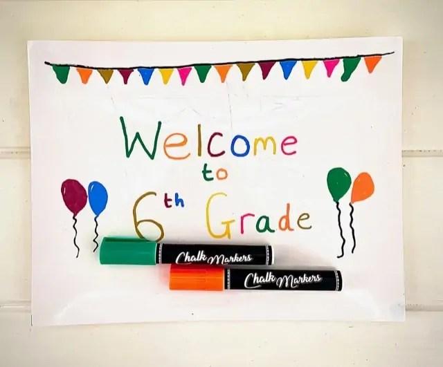 Chalkola - Welcome to 6th Grade Chalk Marker