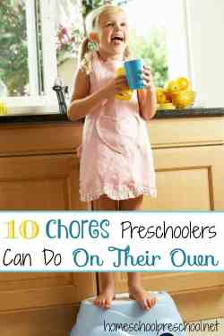 Country Mouse City Spouse Monday Mish Mash Link Party #23 Feature: 10 Chores Preschoolers Can Do On Their Own from Homeschool Preschool
