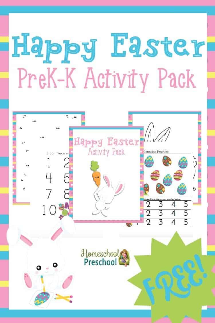 Help the little ones celebrate Easter with this35-page, fun-filled Tot & Preschool Pack! | homeschoolpreschool.net